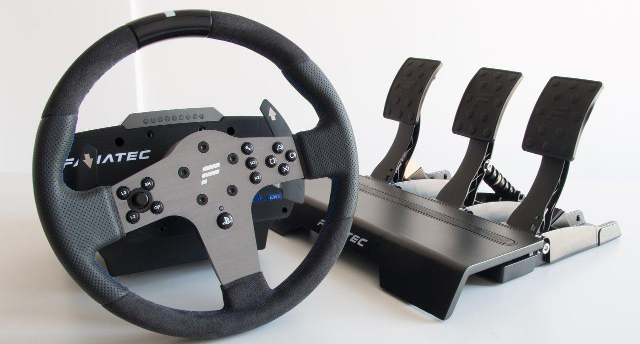 test fanatec csl elite racing wheel for ps4. Black Bedroom Furniture Sets. Home Design Ideas