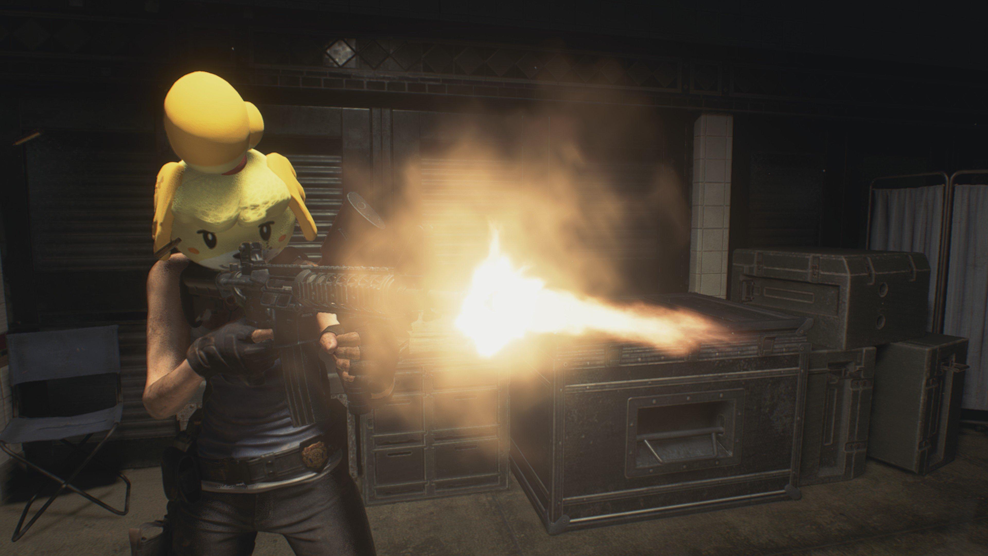 Någon har moddat in Animal Crossing-Isabelle i Resident Evil 3